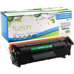 fuzion™ New Compatible HP Q2612A Toner Cartridge Black