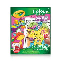 Crayola Scribble Scrubbie Colour & Sticker Book