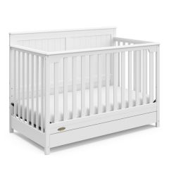 Graco Hadley 4 In 1 Convertible Crib With Bottom Drawer White