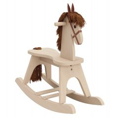 Storkcraft Wooden Rocking Horse Driftwood