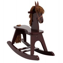 Storkcraft Wooden Rocking Horse Espresso