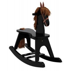 Storkcraft Wooden Rocking Horse Black
