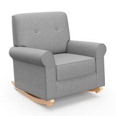Graco Harper Tufted Convertible Rocker Horizon Gray