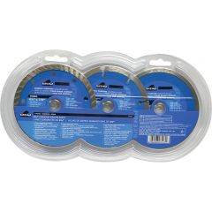Task Tools 3 Piece 4.5 inch Diamond Blade Set