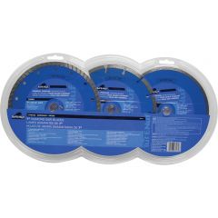 Task Tools 3 Piece 7 inch Diamond Blade Set