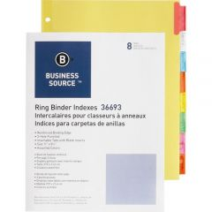 INDEX 11x8.5 3RING*ASST *8 TAB