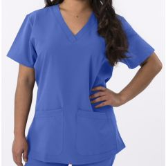 Green Town 4 Flex Collection Scrub Top Ciel Blue