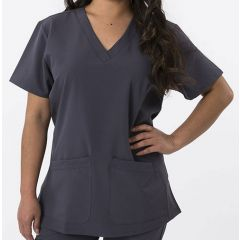 Green Town 4 Flex Collection Scrub Top Steel Grey