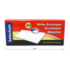Selectum Legal Envelopes White No. 10 30 Pk