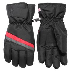 Hot Paws Men Gauntlet Ski Gloves Black & Red