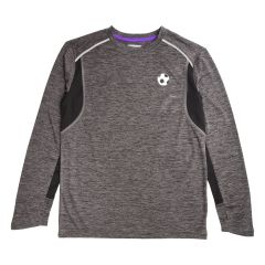 Boys Football Sports Dye Long Sleeve Tshirt Grey