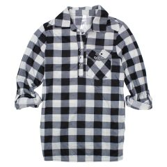 2 Dye 4 Girls' Long Sleeve Plaid Shirt Size 7-14