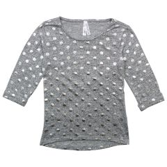 2 Dye 4 Hi-Lo Polka Dot Long Sleeve T-Shirt Size 7-14