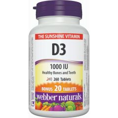 Webber Naturals Vitamin D3 1000 IU- The Sunshine Vitamin