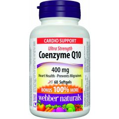 Webber Naturals Ultra Strength Coenzyme Q10 400 mg - Cardio Support