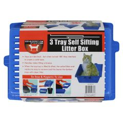 3 Tray Self Sifting Litter Box