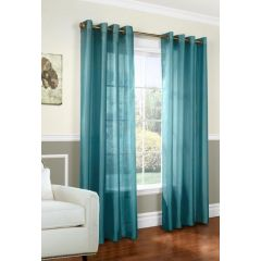 Home Essentials Faux Silk Window Panels 2Pk Aqua
