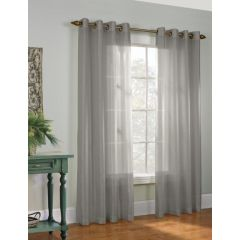Home Essentials Faux Silk Window Panels 2Pk Grey