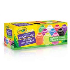 Crayola Washable Neon Project Paint 10Pk