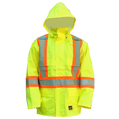Open Road Hooded Rain Jacket Yellow Large