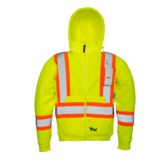 Viking's Safety Fleece Hoodie Yellow 2 XLarge