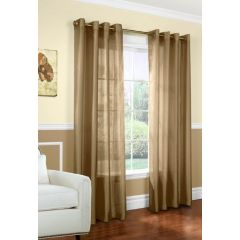 Home Essentials Faux Silk Window Panels 2Pk Taupe