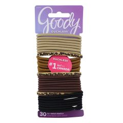 Goody Ouchless Hair Elastics 4mm 30PK Wild Side