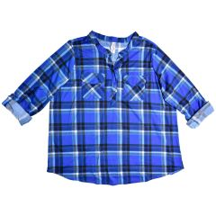 2 Dye 4 Plus Size Plaid Popover Shirt