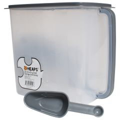 Heaps Plastic Storage Container With Scoop and Handle 10ltr