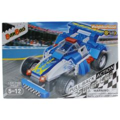 BanBao Eagle Pull-Back Action Super Car Building Blocks