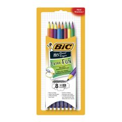 BIC Extra Fun Multicolour HB Pencil 8Pk