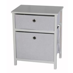 Casadécor 2 Drawer Storage Cabinet White