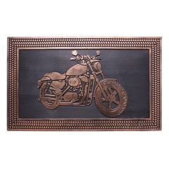 Rubber Motorcycle Door Mat 18 x 30in