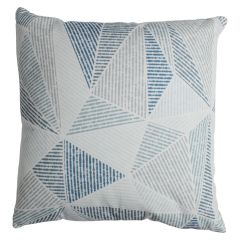 Geometric Pattern Print Decorative Cushion Blue 20in