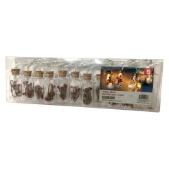 Christmas Small 10LED Decor Bottle Lights Chain Warm White