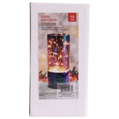Glass Cup LED Light Decoration Multicoloured