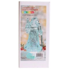 Christmas LED Santa Light With Glitter Water