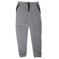 NXTGEN Men's Fleece Joggers Zip Pockets Knee Details