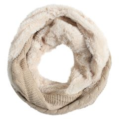 Sherpa Lined Knit Infinity Scarf