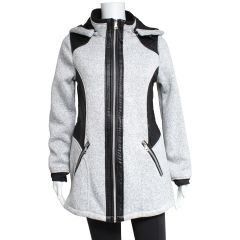 PSG Collection Women's Bonded Jacket With Hood Grey