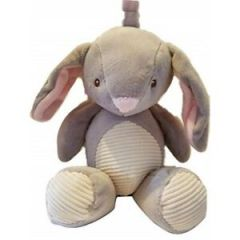 Kelly baby Plush Bunny Grey