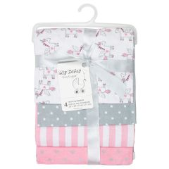 My Baby Boutique Receiving Blanket Unicorn 4Pk