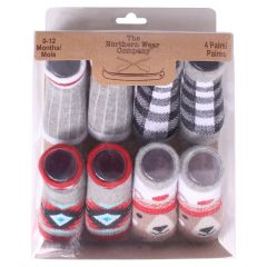 The Northern Wear Company Infant Socks 4Pk 0-12 Months