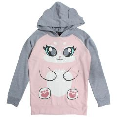Kitten Hoodie With Ears Size 7-14