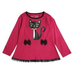 Mini Made Tulle Cat Legging and Long Sleeve T-Shirt Set Pink