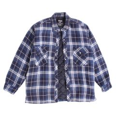 Azur Men's Quilted Flannel Button Down Shirt