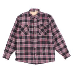Men's Sherpa Lined Plaid Flannel Shirt Red