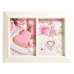 Two Picture Photo Frame White 5 x 7in