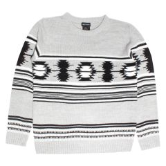 Guiltyman Knit Crew Neck Sweater Grey & Black