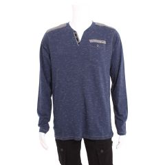Guilty Man Long Sleeve V-Neck with Pocket